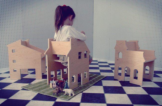 Decoraci n para habitaciones de ni as casa de mu ecas y silla dos en uno - Decoracion de casas de munecas ...