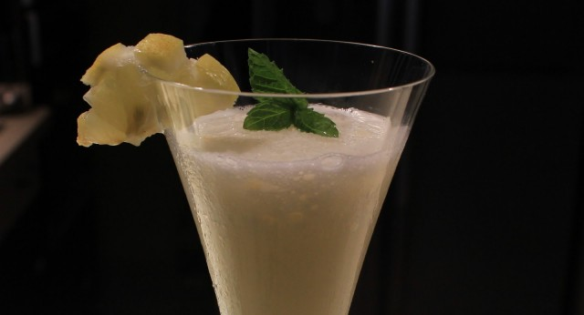 Sorbete de limón al champán