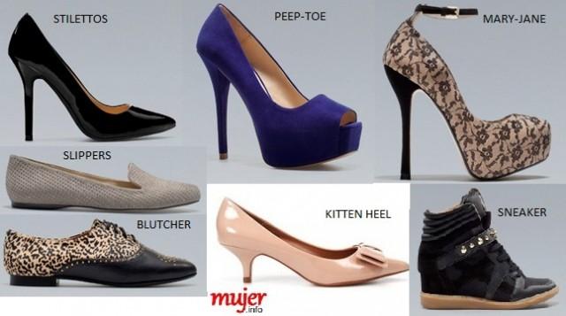 diccionario moda calzado