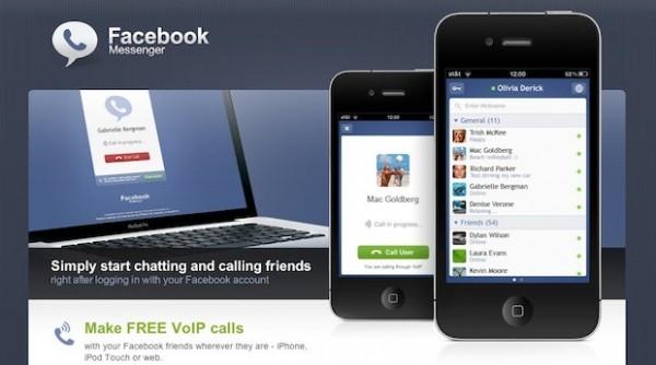 Facebook Messenger para iPhone incorpora llamadas gratis