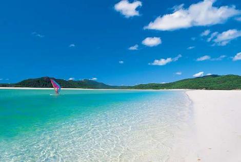 Whitehaven Beach, Qeensland (Australia).