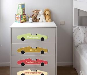 Deco truco decora los muebles con vinilos infantiles for Vinilos muebles infantiles