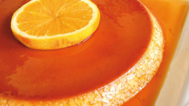 Receta de flan de naranja, paso a paso