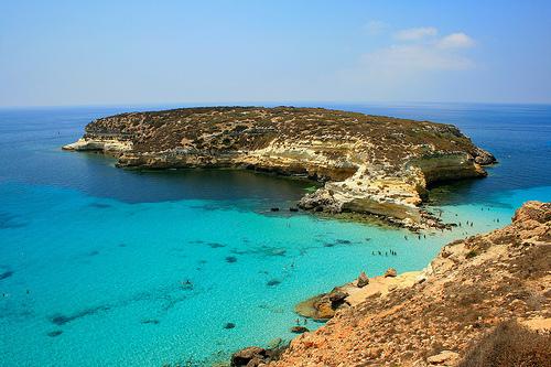Spiaggia dei Coniglio, Sicilia (Italia).