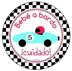 pegatina personalizada de bebe a bordo para niños en nicolasito.es