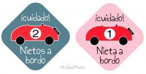 pegatinas personalizadas de bebe a bordo para el coche con nietos a bordo nicolasito.es