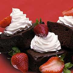 brownie-con-fresas