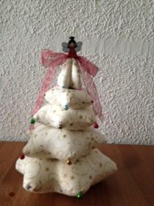 preparando la navidad el arbol de tela - Arbol De Navidad De Tela