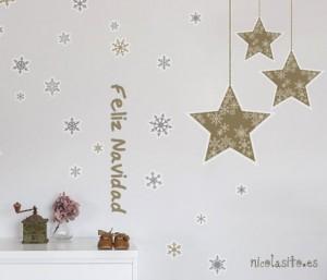 vinilos decorativos de estrellas para navidad