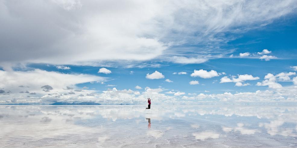 El salar de Uyuni, un paraíso en Bolivia