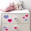 vinilos de corazones decoración mueble infantil