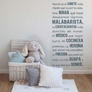 vinilos decorativos para mamás. nicolasito.es