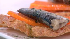 Calabaza con sardinas