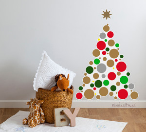 vinilos,decorativos,arboles,de,navidad,para,paredes,gotele
