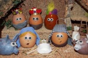 belén con huevos