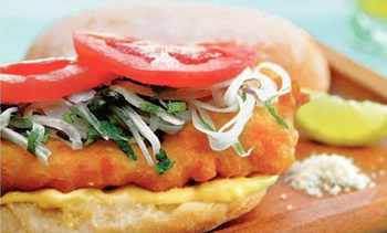 Sandwich de pescado